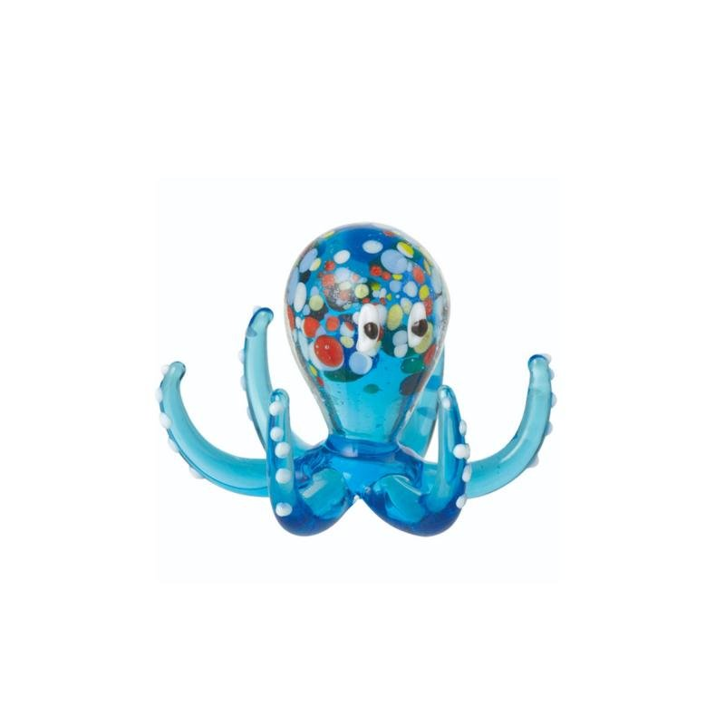 Octopus Glass Ornament