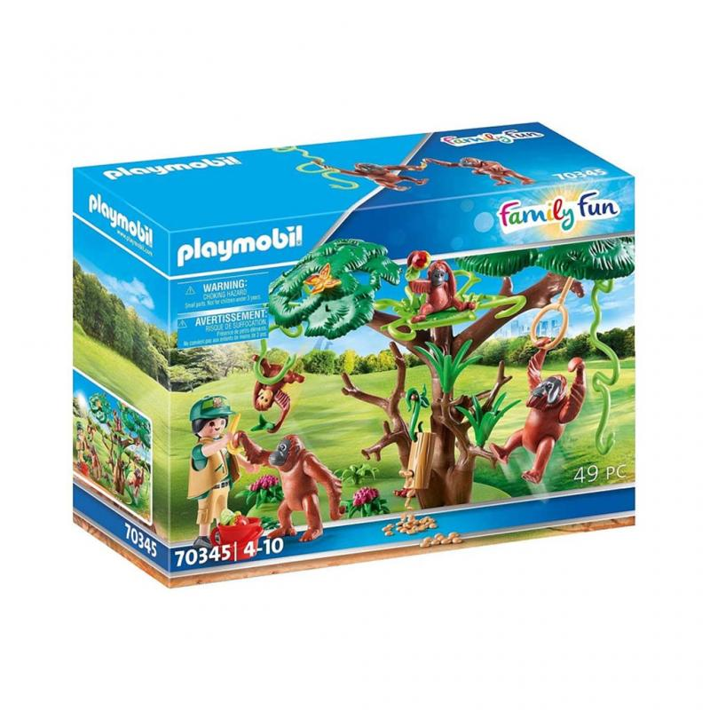 Playmobil Orangutans with Tree Play Set