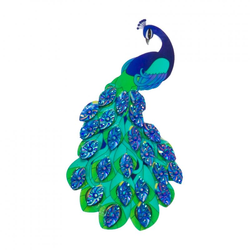 Peacock crystal sticker kit