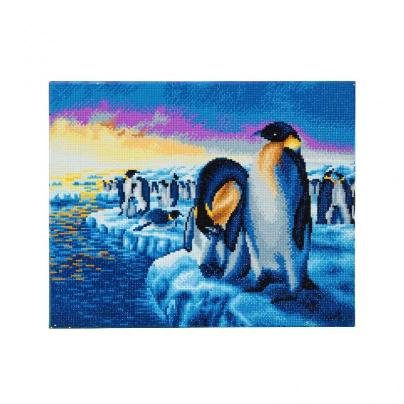Penguin Crystal Art Canvas Kit, 40cm x 50cm
