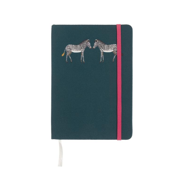 Zebra fabric notebook, B6