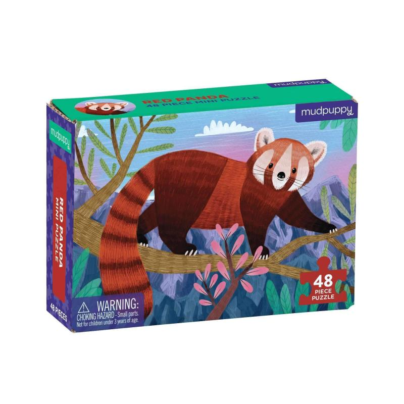 Red Panda Mini Jigsaw Puzzle, 48 pieces