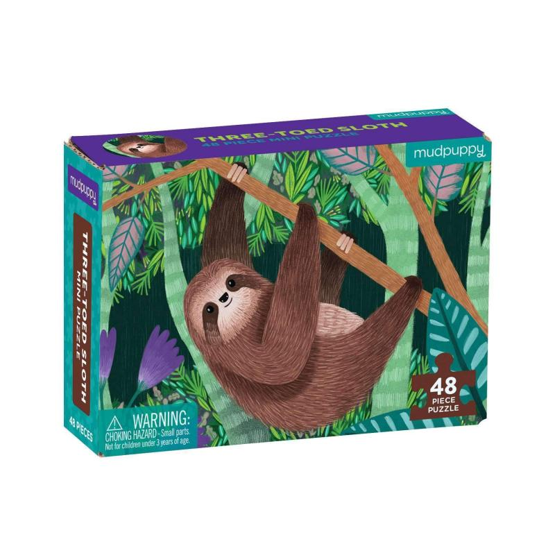 Three-toed Sloth Mini Jigsaw Puzzle, 48 pieces