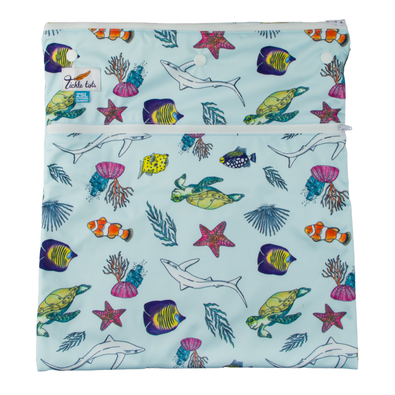 Tickle Tots Ocean Wet Bag