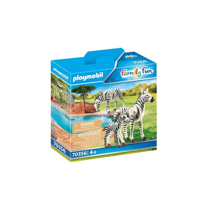 Playmobil Zebras With Foal Figures