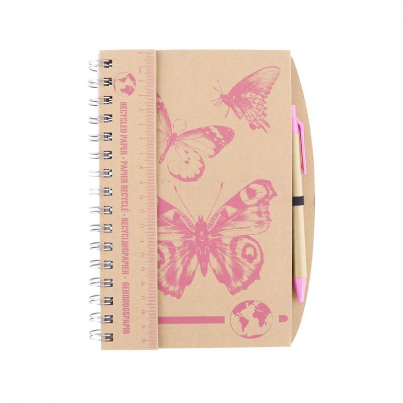 butterfly notebook and pen