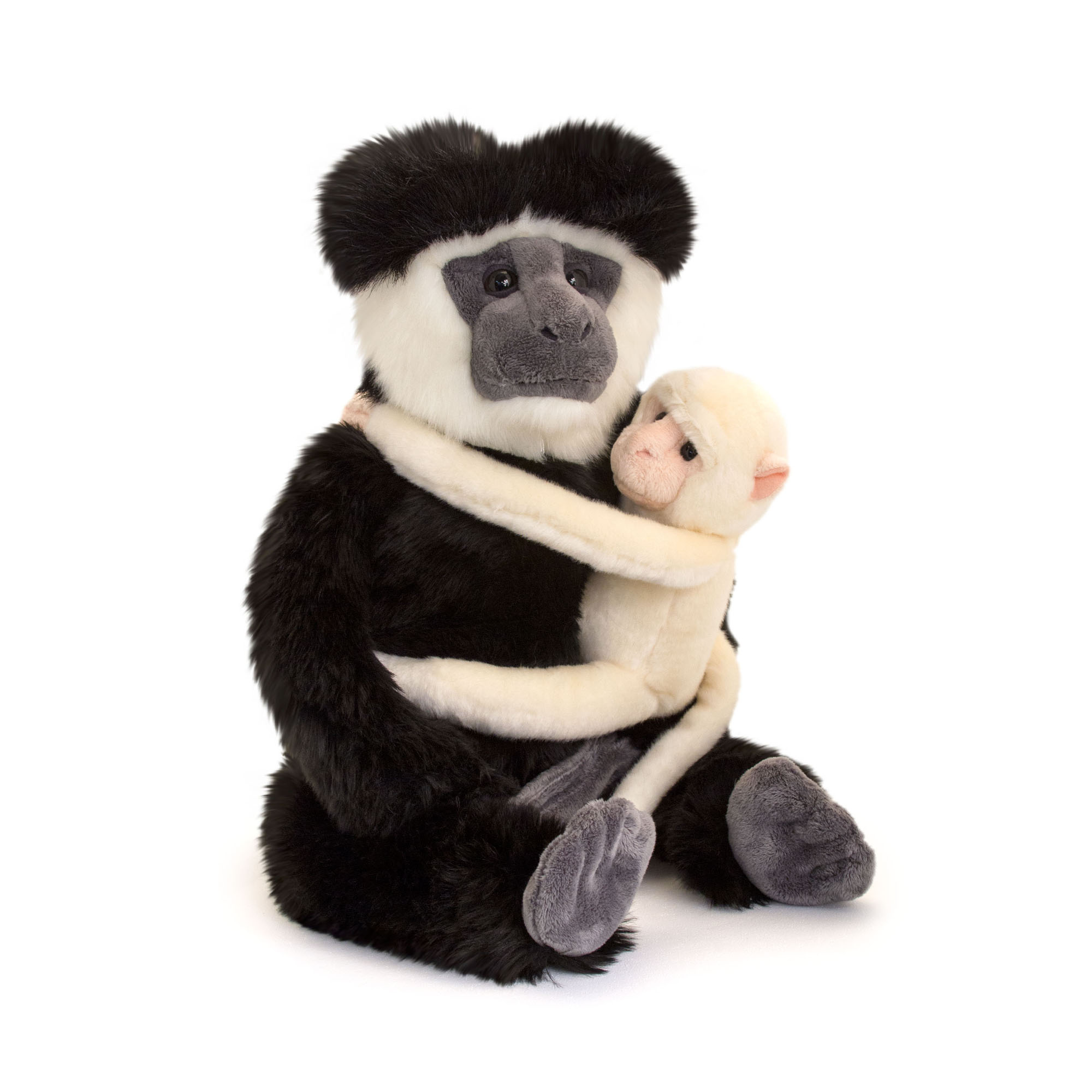 Colobus Monkey and Baby Soft Toy, 58cm