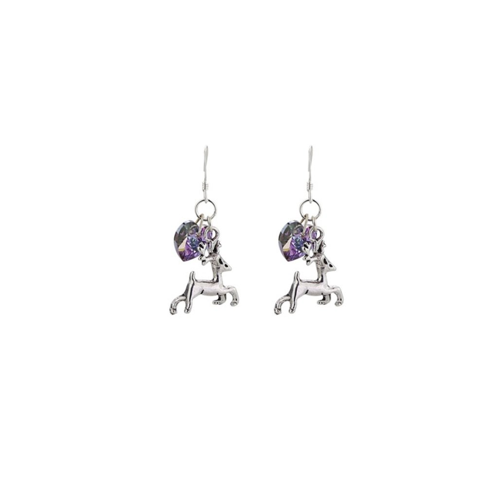 Stag Charm Earrings