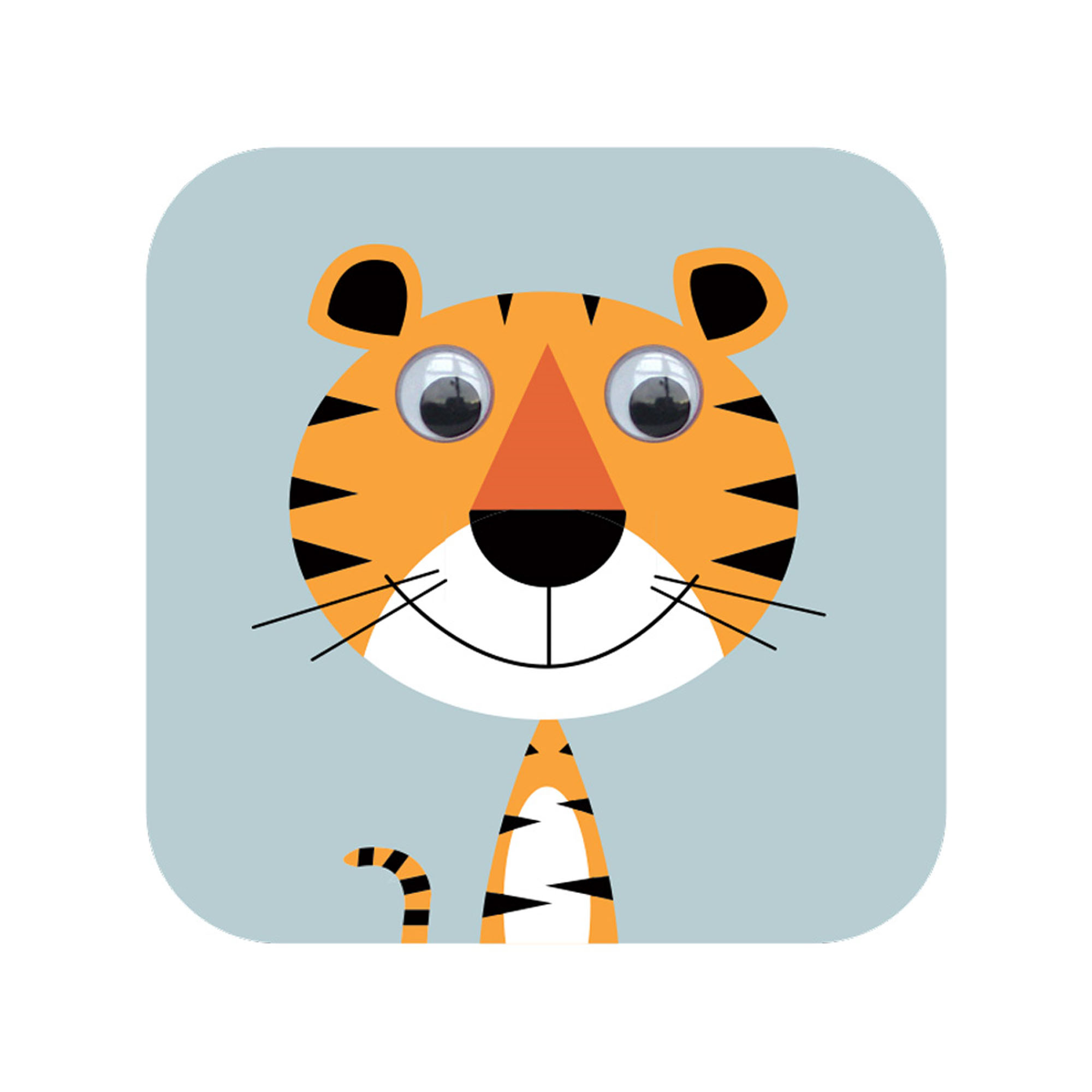tiger googly eyed card