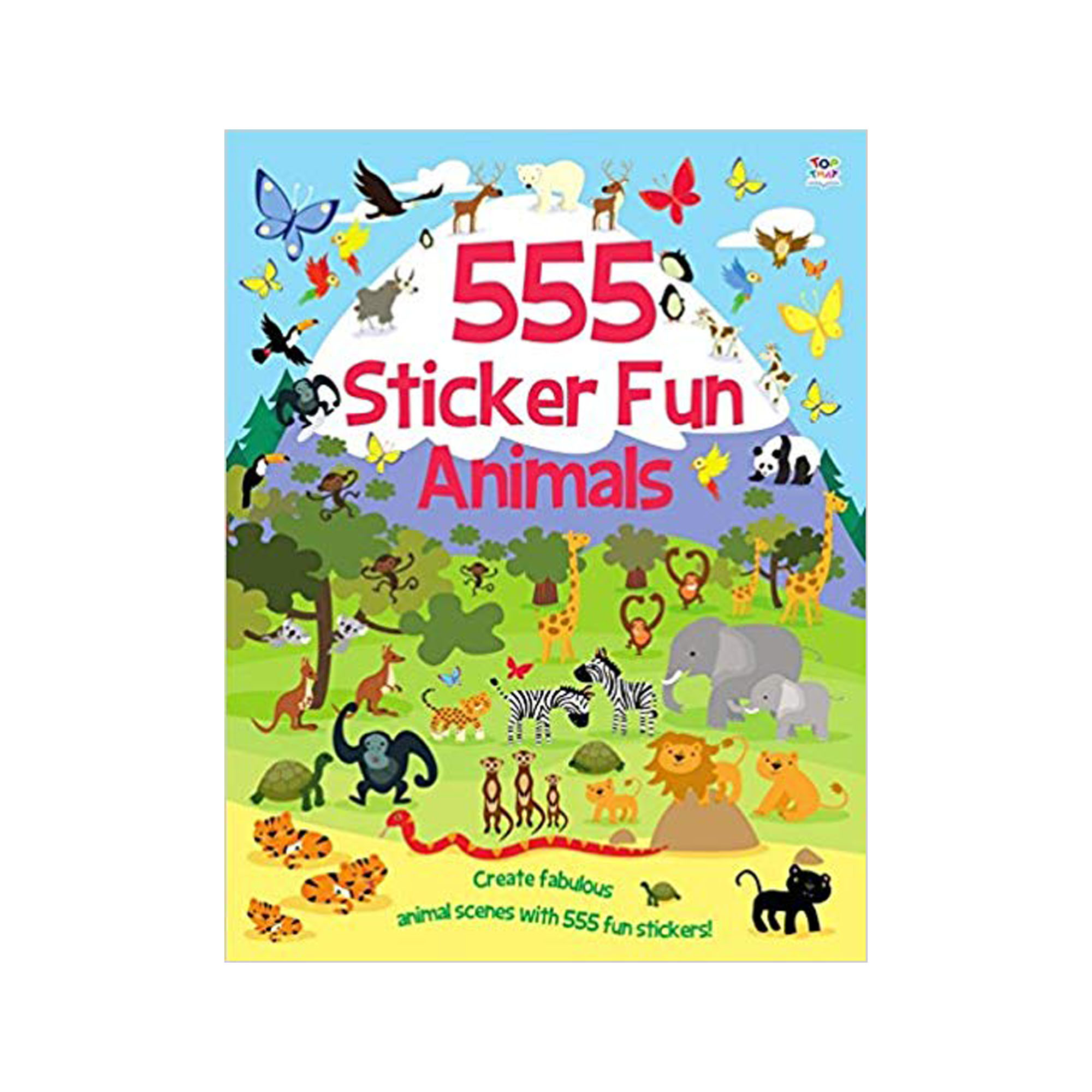 555 Sticker fun animals book