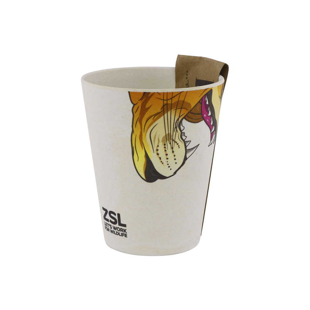 Lion bamboo cup